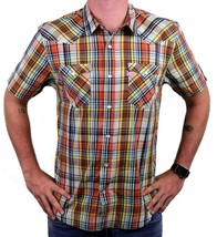 NEW LEVI'S MEN'S CLASSIC COTTON CASUAL BUTTON UP PLAID BURNT PRD-3LYSW6102