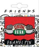 Friends TV Series Central Perk Logo Thick Metal Enamel Pin NEW CARDED - $7.84