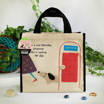 [Dog At Phone Booth] Lunch Tote  (8.7*8*4.4) - $13.99