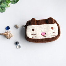 [Chocolate Cate] Wallet PursePouch Bag (5.1 X 3.7 X 1.4 inches) - $10.99