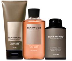 Bath & Body Works Teakwood per Uomo Trio Corpo Set - $39.15