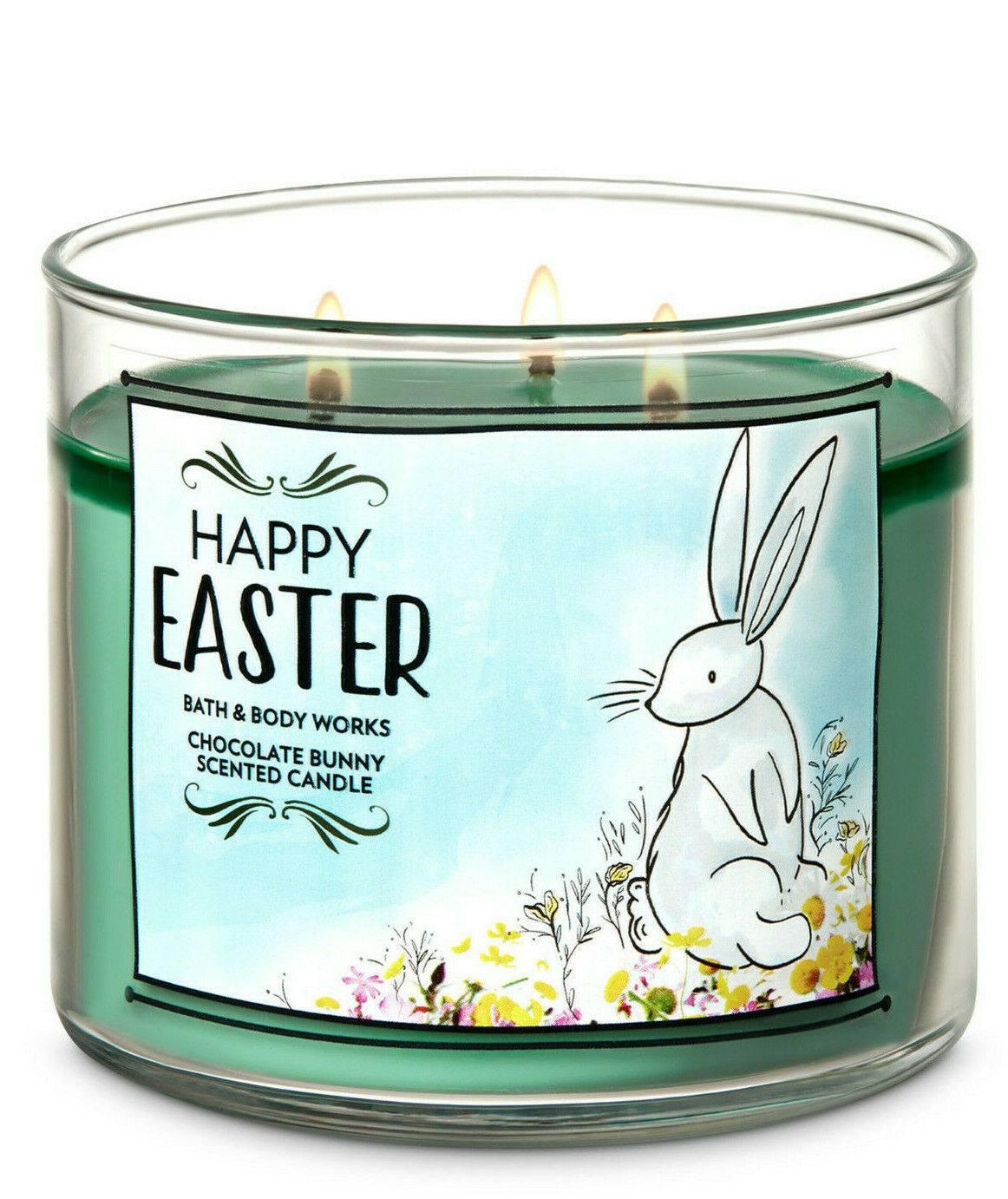 Bath & Body Works Chocolate Bunny Three Wick.14.5 Ounces Scented Candle