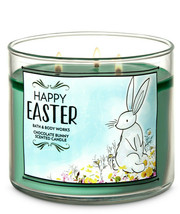 Bath & Body Works Chocolate Bunny Three Wick.14.5 Ounces Scented Candle - $22.49