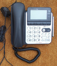 AT T CL84100 telephone - digital answering machine speaker phone big LCD screen - $40.06