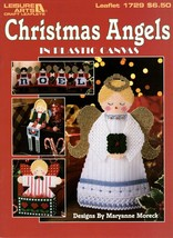 Christmas Angels in Plastic Canvas Noel Tissue Box Napkin Rings Necklace... - $7.95