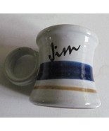 "Vintage 70's 80's CLAY IN MIND Personalized Handmade Ceramic ""Jim"" Name ... - $29.99"