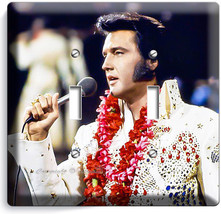 Elvis Presley Aloha From Hawaii Concert Double Light Switch Plate Room Art Decor - $10.79