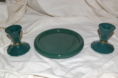 Partylite Greenbrier Taper Pair & 3-wick Party Light