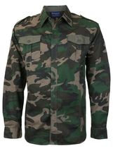 Men's US Military American Long Sleeve Button Up Camo Casual Dress Shirt image 10