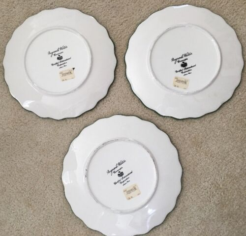 3 Raymond Waites Cornucopia Certified Intl Green Rim Fruit Dinner Dish Plates image 6