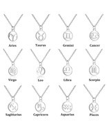 Todorova Stainless Steel Star Zodiac Sign Neckless 12 Constellation Pend... - €12,83 EUR