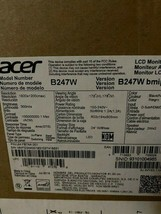 """Acer PRO Series B247W 24"""" IPS LCD Computer Monitor 1920 x 1200 Widescreen - NEW"""