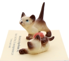 Hagen-Renaker Miniature Cat Figurine Siamese Kittens 2 Piece Set Chocolate Point image 3