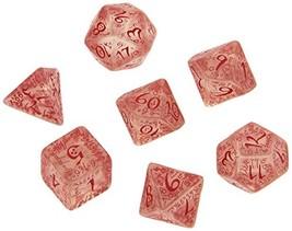 Q Workshop Elvish Dice Transparent/Red 7 Board Game - $14.38