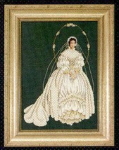 I Thee Wed cross stitch Lavendar & Lace Marilyn Leavitt-Imblum - $12.60