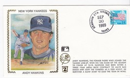 ANDY HAWKINS NEW YORK YANKEES STADIUM STA. BRONX NY SEP 30 1989 Z SILK  - $2.98