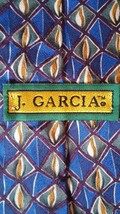 Jerry J. Garcia Mens Tie Uncorrected Manuscript Blue Multicolored Collec... - $12.19