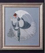 Ice Angel cross stitch Lavendar & Lace Marilyn Leavitt-Imblum - $10.80