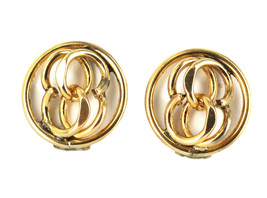 Vintage MidCentury12K Gold Filled Double Row Chain Link Clip On Earrings... - $50.39