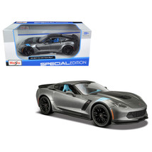 2017 Chevrolet Corvette Grand Sport Metallic Grey 1/24 Diecast Model Car... - $47.11