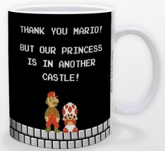 Super Mario Princess in Another Castle 11oz Gamer Coffee Mug Licensed Ni... - $15.83