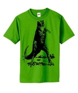 S Green Dinosaur head Short Sleeved funny boys ... - $14.99