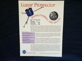 NASA Lunar Prospector Rediscovering the Moon 1997! - $6.80