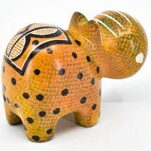 Crafts Caravan Soapstone Orange Black Hippopotamus Hippo Figurine Made Kenya image 4