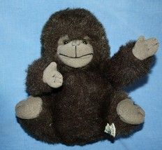 "Russ Berrie GONZO GORILLA 9"" Monkey Furry Brown Gray Plush Stuffed Soft ... - $16.42"