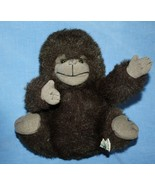 "Russ Berrie GONZO GORILLA 9"" Monkey Furry Brown Gray Plush Stuffed Soft ... - $16.42"