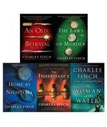CHARLES LENOX Detective Series by Charles Finch Set of LARGE Paperbacks ... - $79.99
