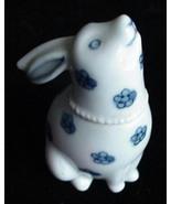 Old Fitz & Floyd Porcelain Bunny Rabbit Ring Trinket Box - $9.50