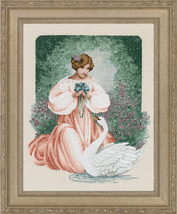 Lady Claire cross stitch Lavendar & Lace Marilyn Leavitt-Imblum - $12.60