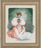 Lady Claire cross stitch Lavendar & Lace Marilyn Leavitt-Imblum - $12.60