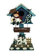 """Vintage JC Penny Holiday Christmas Welcome Decoration Bird House 24"""" Tall - $56.07"""