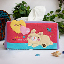 [Rabbit & Heart] Tissue Box Cover Holder (8.7*4... - $12.99