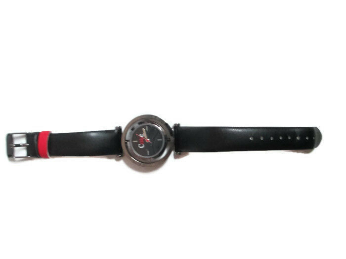 Coca-Cola Accutime Spinner Watch 22 MM Black Vinyl Band - BRAND NEW image 4