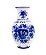 Hand-Painted Blue and White Porcelain Vase Irina - Decorative Vase - Gzh... - $58.98