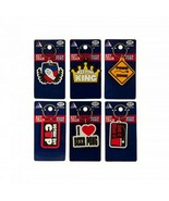 """6x SIX new BEER PONG I Love Beer Pong, Rubber Key Chains 2"""" x  3"""" Beer P... - $10.78"""