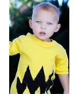 2T Yellow Zig Zag charlie cartoon kids shirt brown - $16.99