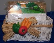 NIB Vegetable Recipe Organizer Basket By Avon Collections