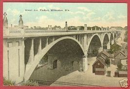 MILWAUKEE WI Grand Ave Viaduct Wisconsin - $10.00