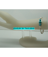 Jewelry By Two Gems (B54) Sterling Silver Bangle w Turquoise Beads - $44.00