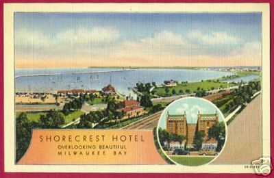 MILWAUKEE BAY Wisconsin Shorecrest Hotel Linen WI