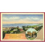 MILWAUKEE BAY Wisconsin Shorecrest Hotel Linen WI - $7.00