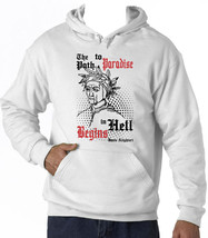 Dante Alighieri Path To Paradise Quote - New Cotton White Hoodie - $38.05