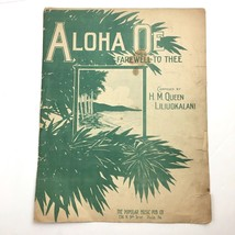 Hawaiian Sheet Music Aloha OE Farewell to Three by Queen Liliuokalani 1913 - $14.80
