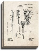 Lacrosse Stick Patent Print Old Look on Canvas - $39.95+
