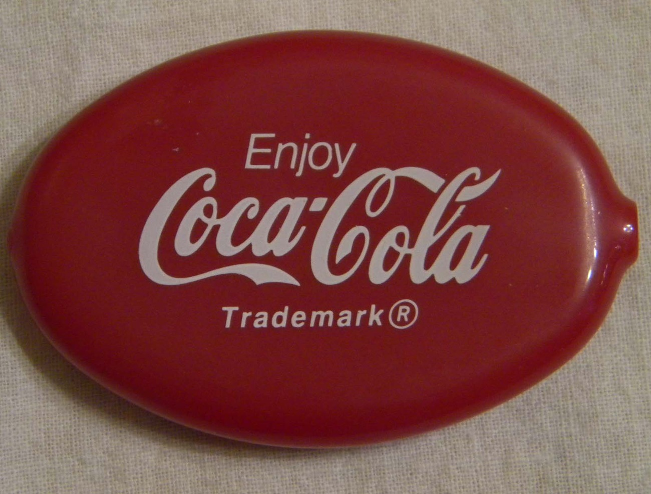 Vintage Coca-Cola red vinyl coin purse keychain purse