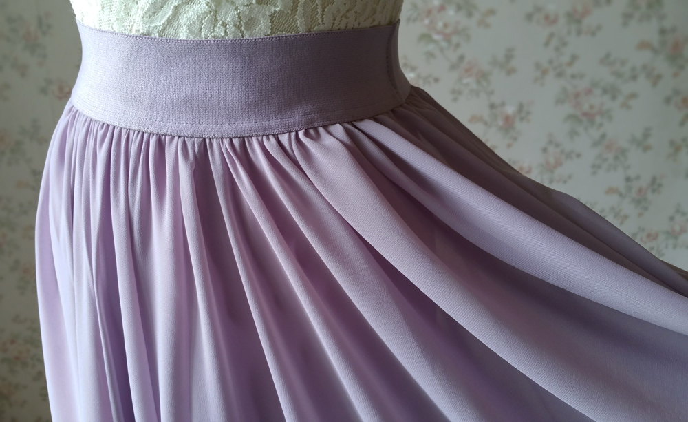 Chiffon maxi skirt wedding lavender 1000 7